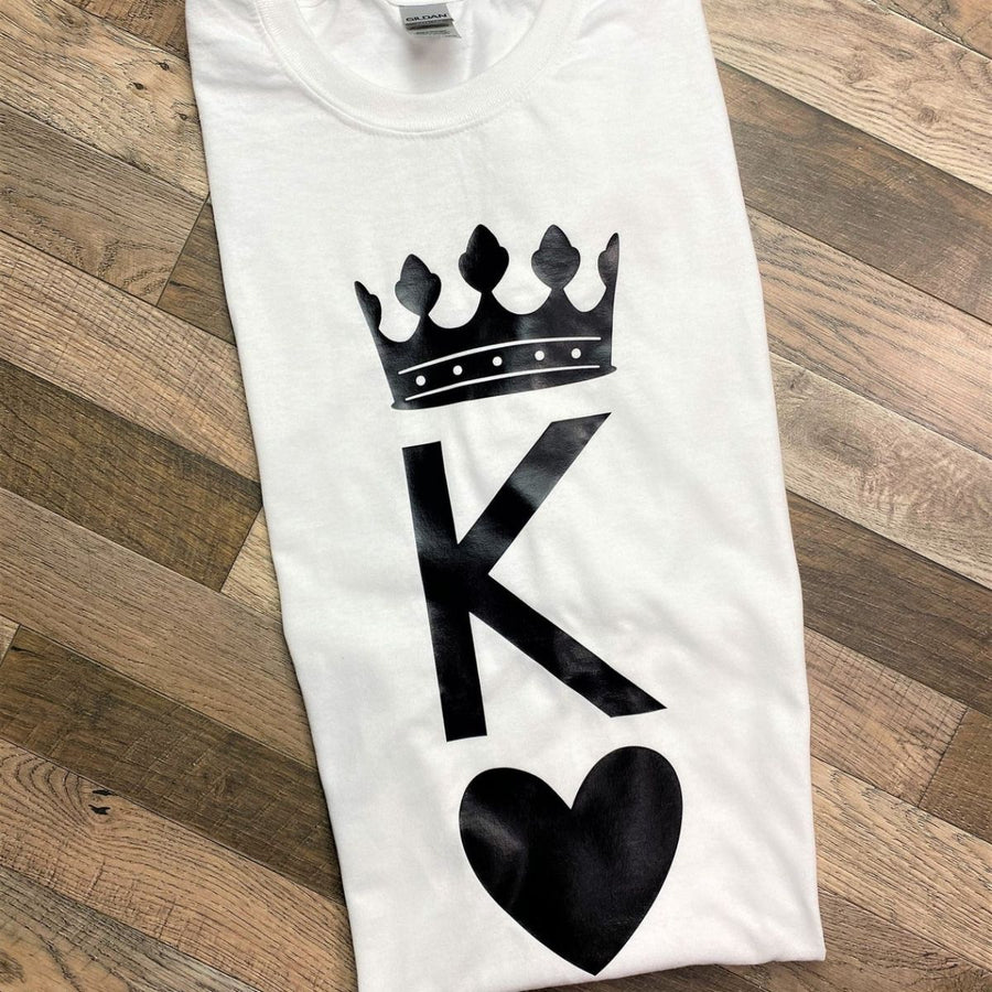 Couples Shirts - Hearts King & Queen Shirts