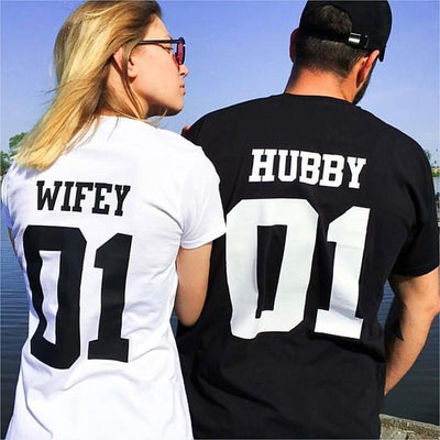 Couples Shirts - Wifey & Hubby 01