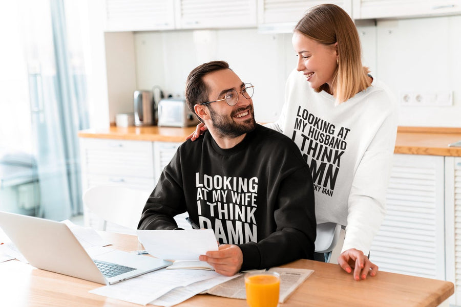 Damn Couple Sweatshirt Set