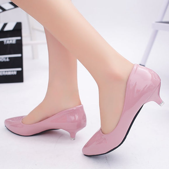 3 Cm Low Heel High Heels Stiletto Wild Women's Shoes Simple Comfort Work Shoes Shallow Mouth Pointed Single Shoes Fashion Pumps