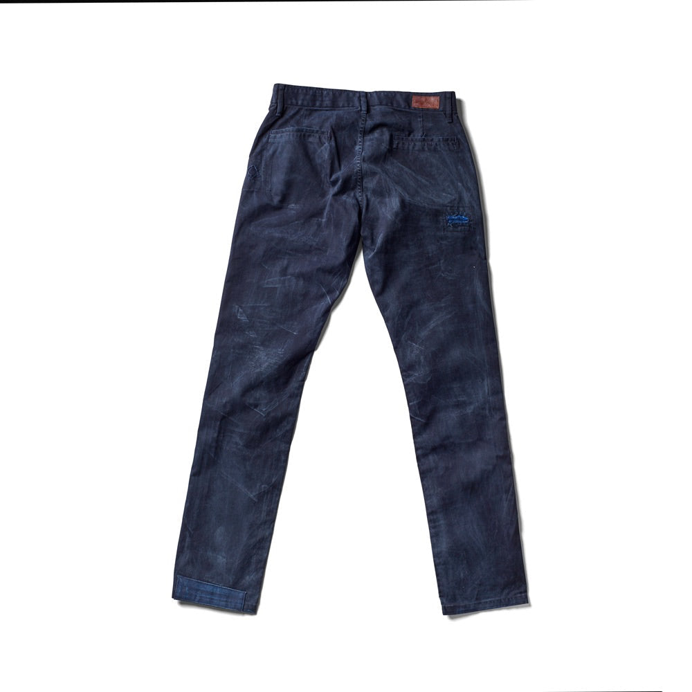 Independent Slim Pant - Handmade Patched Artisan (Navy)