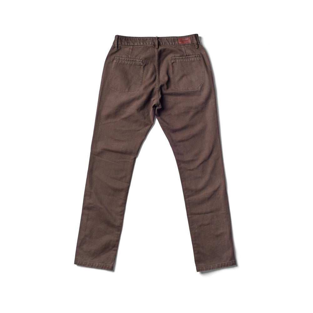 Independent Slim Brushed Twill Pant - Brown