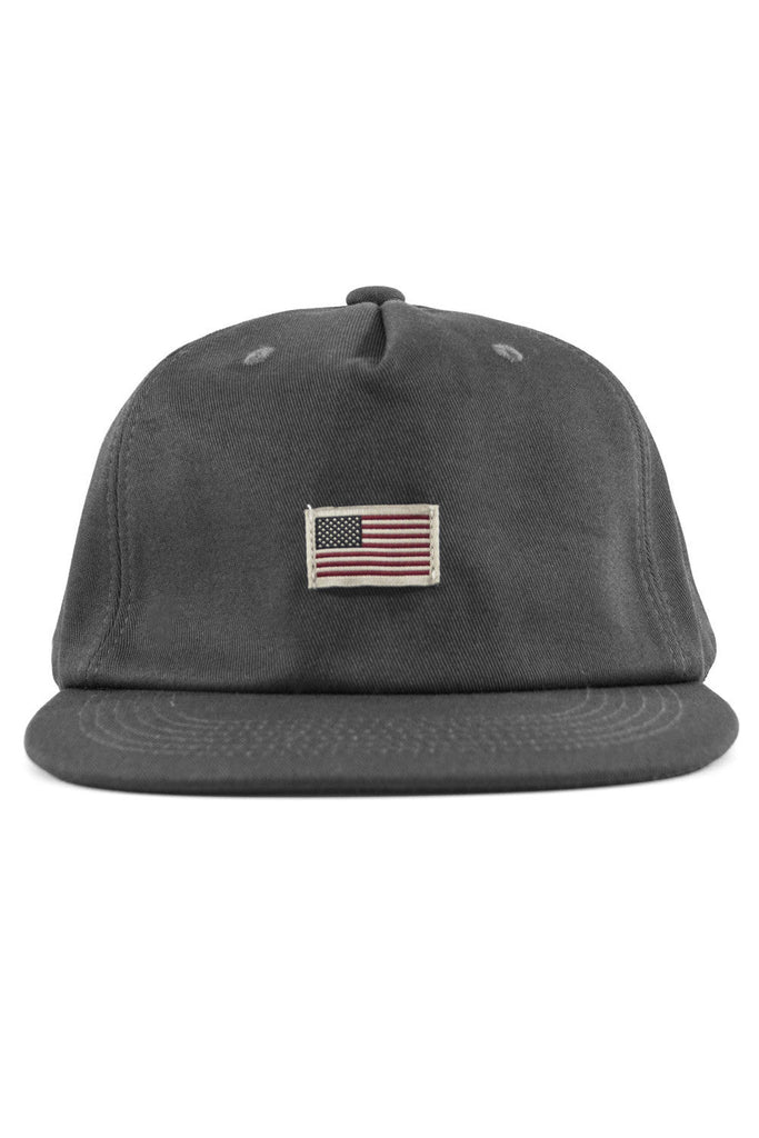 US Flag Cotton Baseball Cap - Grey