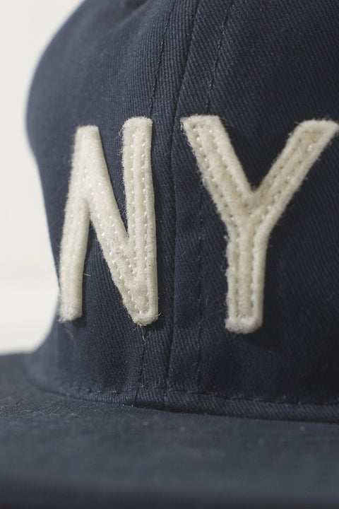 Ebbets Field Flannels x Grown&Sewn NY Cap - Navy