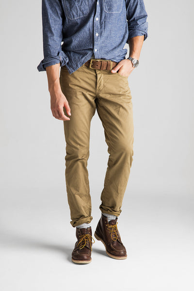 Franklin Straight Sateen Pant - Chestnut