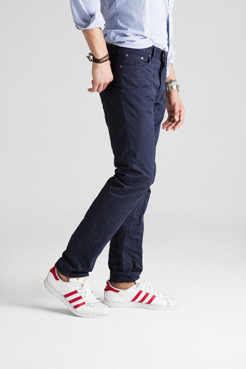 Franklin Straight Sateen Pant - Navy