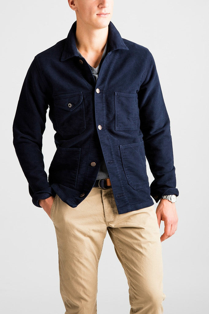 Heartland Moleskin Jacket - Navy