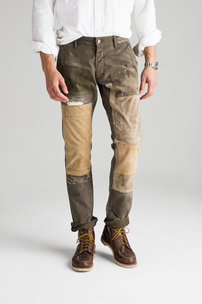 Independent Slim Pant - Handmade Patched Loden