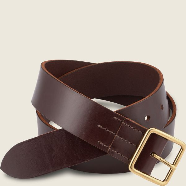 Dark Brown Vegetable Tanned Leather Belt 96506