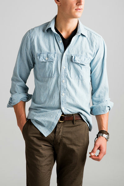 Bleached Chambray Work Shirt