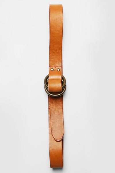 O-Ring Signature Leather Belt - Saddle