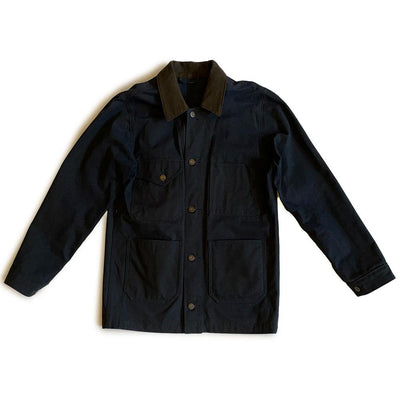 Heartland Canvas Jacket - Navy Oil Cloth - grown&sewn
