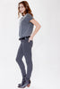Olivia Skinny Sateen Pant - Evening Grey