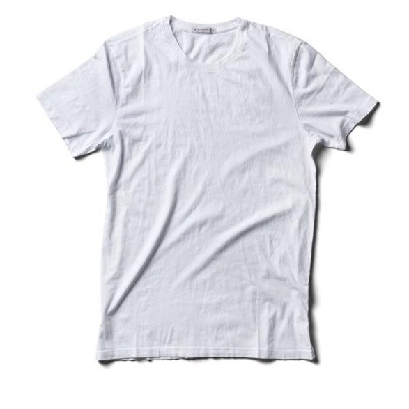 USA Crew Neck T-Shirt - Knit Cotton - White - grown&sewn