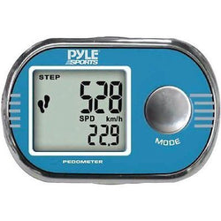 Pyle Blue Pedometer Step Timer Distance Speed Stopwatch Clock