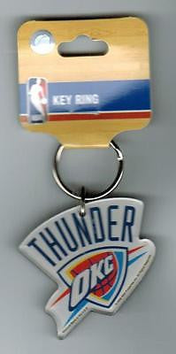OKC Thunder Multicolor Plastic Keyring with FOB New Licensed NBA Merchandise