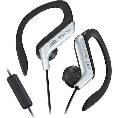JVC Sports Stereo  Ear Clip Earbuds with Remote and Mic Silver New in Package