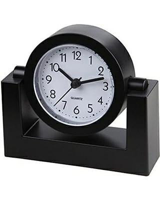 Sima TimeKeeper Black Swivel Desk Clock Battery Operated