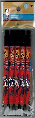 OKC Thunder Five Pack of Ink Pens New Unopened Licensed NBA Merchandise