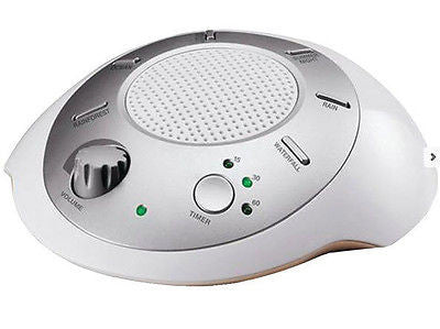Homedics Sound Spa Portable Relaxation Machine White 6 Modes Sleep Spa
