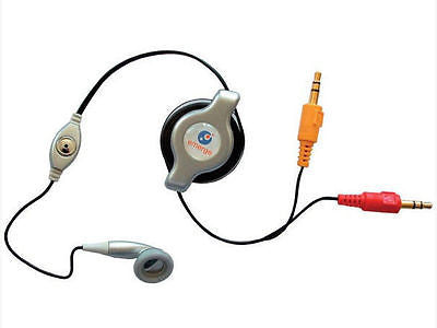 Retrak Retractable VOIP Internet Call Mic and Headset in Silver