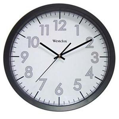 "Westclox 14"" Black Analog Indoor Wall Clock Second Hand Quartz"