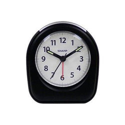 Sharp Quartz Analog Black or Mint Color Ascending Alarm Clock Battery Operated