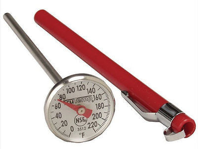 "Taylor Trutemp Instant Read 1"" Dial Thermometer with Sleeve"