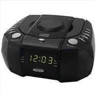 Jensen AM FM CD Clock Radio Black Dual Alarm Audio Input for your Portable Music