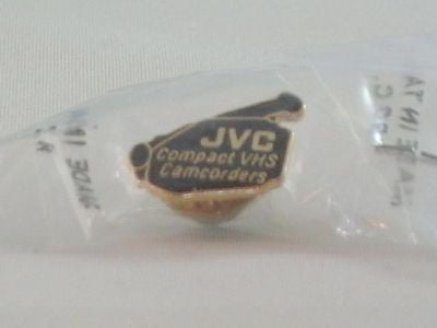 JVC Pinback Compact VHSC Camcorder Gold & Black New in Package