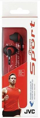 JVC Gumy Sports Earbuds Secure Sweatproof 20-20K Hz Black New in Factory Package