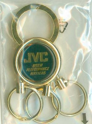 JVC Victor Gold Triple Keychain When Performance Matters New