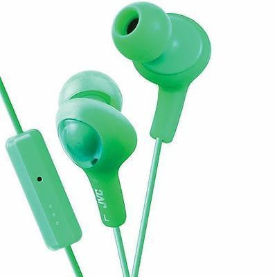 JVC Gumy Plus Pistachio Green Remote and Mic Stereo Earbuds