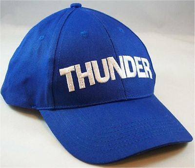 OKC Thunder Flashing Blue and White Cap Hat Replaceable Batteries Included New