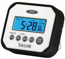 Taylor Splash and Drop Digital Timer Safe for Water Impact and Heat Resistant