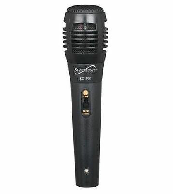 Supersonic ProVoice Professional Microphone with On Off Switch 5Foot Cable Black