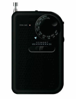Sylvania AM FM Compact Portable Radio BLACK RED or BLUE With Speaker and Heaphone Jack