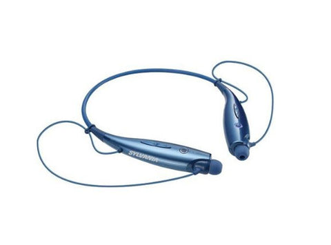 Sylvania Blue Bluetooth Neckband Headphones Smartphone Mic and BuiltIn Controls