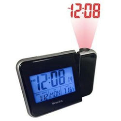 Westclox Digital Projection LCD Alarm Clock Battery or AC