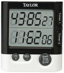 Taylor Classic Dual Event Digital Timer and Clock for Kitchen