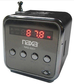 Naxa Black Portable Rechargeable Speaker for PC iPod Cube