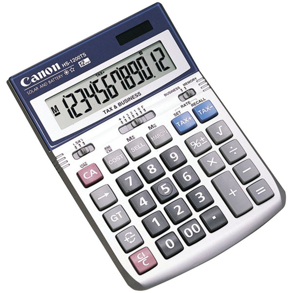 Canon 12 Digit Silver Desktop Business Calculator with Cost Sell Margin Tax