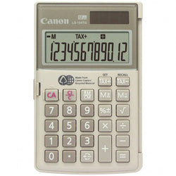 Canon 12 Digit Gray Handheld Business Calculator with Tax Calculations Recycled