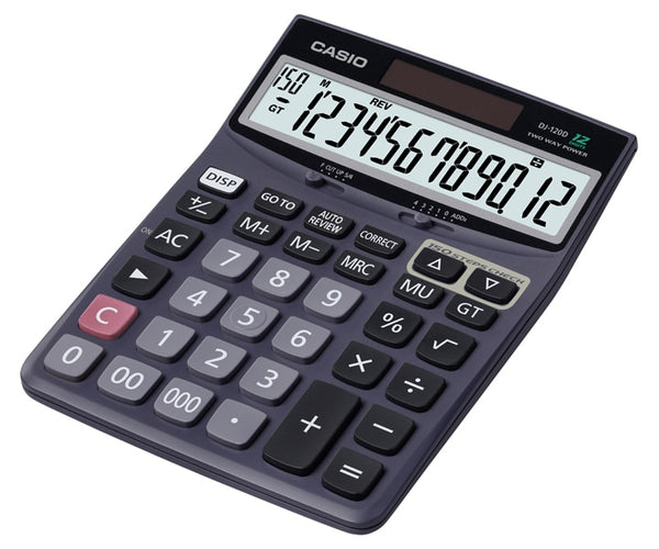Casio 12 Digit Large Display Key Desktop Calculator 150 Calculation Check Steps