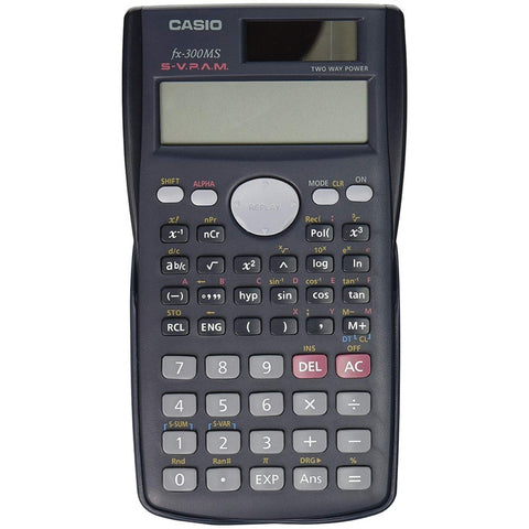 Casio 2 Line Display Scientific Calculator Solar Plus with Case for School