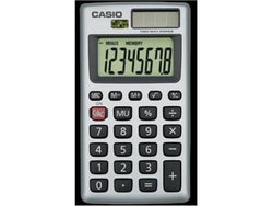 Casio 8 Digit Solar Plus Battery Calculator Auto Off Small for Pocket or Purse