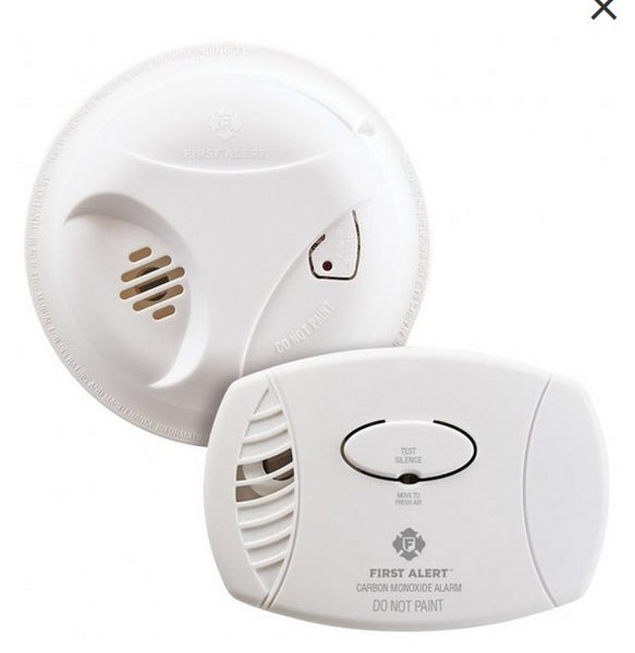 First Alert Battery-Operated Carbon Monoxide Alarm AND Smoke Alarm Combo Pack