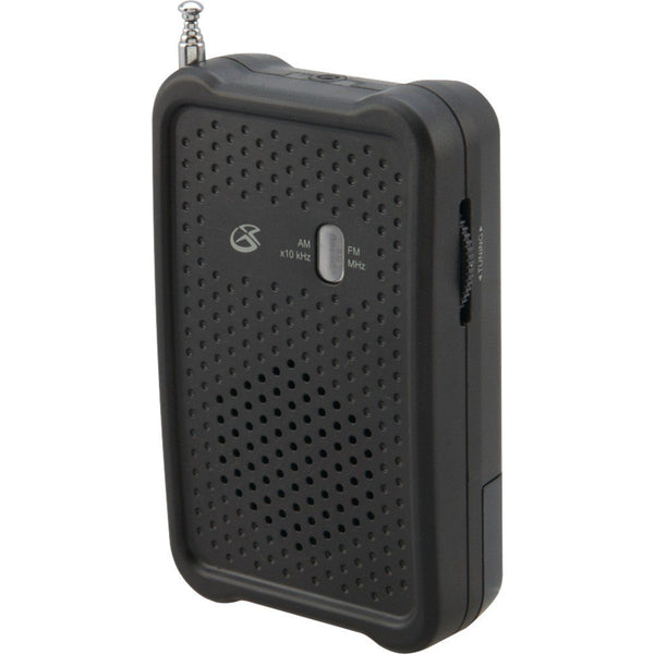 GPX AM FM Compact Portable Personal AM FM Radio with Earbuds