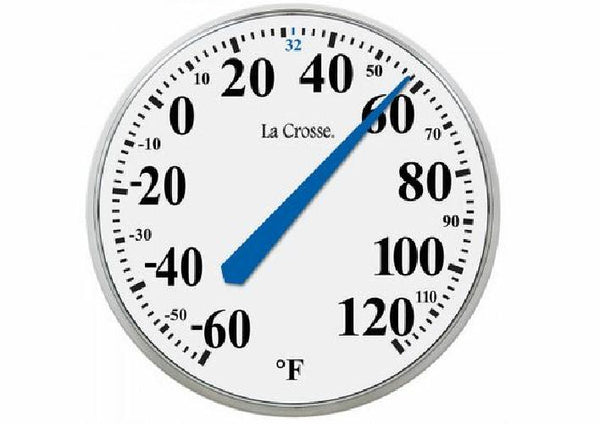 La Crosse Technology 13.5 Inch White Analog Wall Thermometer and Spare Key Hider