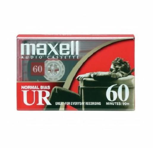 Maxell Normal Bias Type I EQ Blank Cassette Tape UR60 Recording